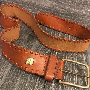 Ralph Lauren POLO chestnut full grain Leather belt